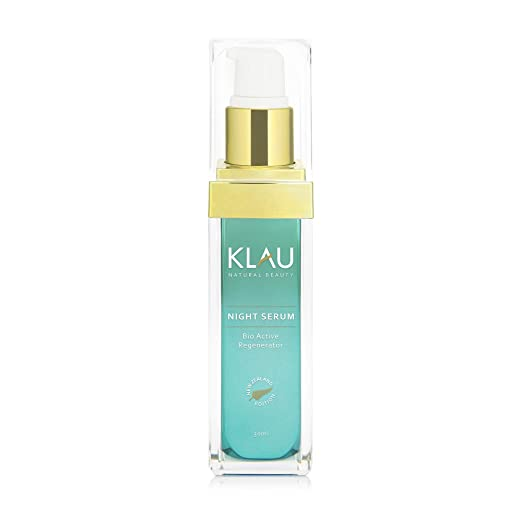 KLAU Sérum facial de noche bio, anti edad y reparador - Con ácido hialurónico vegetal - 30 ml