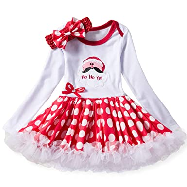 20d639722678 Infant Baby Toddler Girls Princess Dress Christmas Clothes 0-18 Months,Long  Sleeve Santa