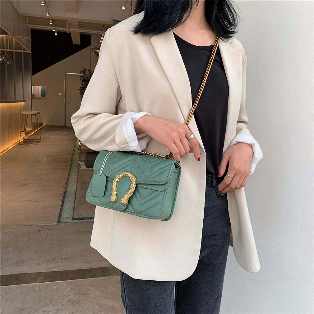 Nyusdar Spring Shoulder Bag PU Leather Women Flap Handbag Ladies Corssbody Chain Bag Purse Messenger Bags