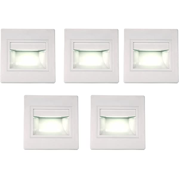 1.5W LED Recessed Wall Lamp Fixture Stair Light White//Warm White Step Pathway