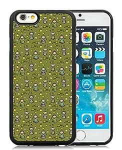 Popular Design iPhone 6 Case,Carton Girl Black iPhone 6 4.7 Inch TPU Case 1