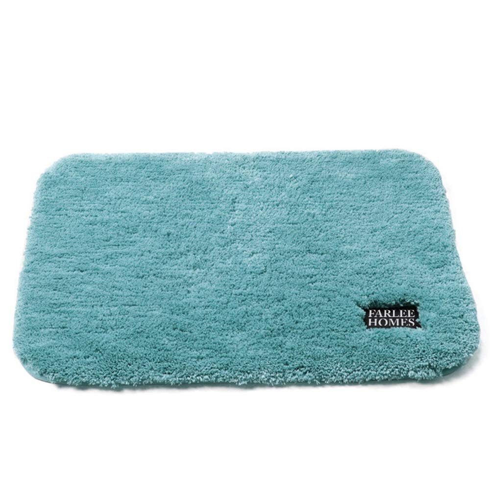 Peacock bluee 6090CM DDSS Door mat Floor mat - Microfiber TPR Environmentally Friendly Tasteless Non-Slip Material, Non-Slip Water Absorption, Soft Touch, Thickened Hotel Bedroom Door mat Water Absorbent Non-Slip mat to