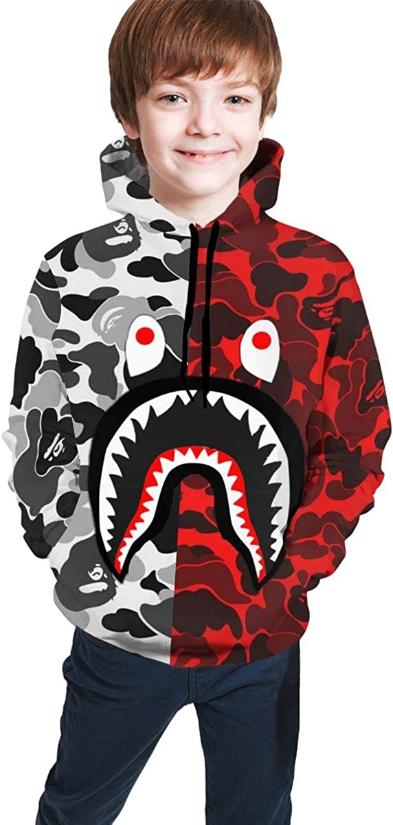 Top 10 Bape Shark Camo Hoodie Red