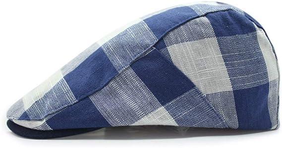 MZ Sombrero Retro algodón y Lino Transpirable Boina Cuadrada ...
