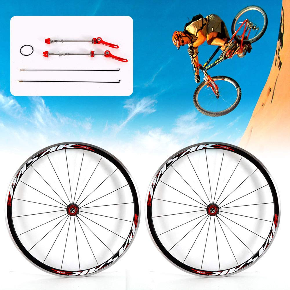 NOPTEG 700C Bicycle Bike Wheel Front Rear Wheel Wheelset Aluminium Alloy Rim 30mm USA