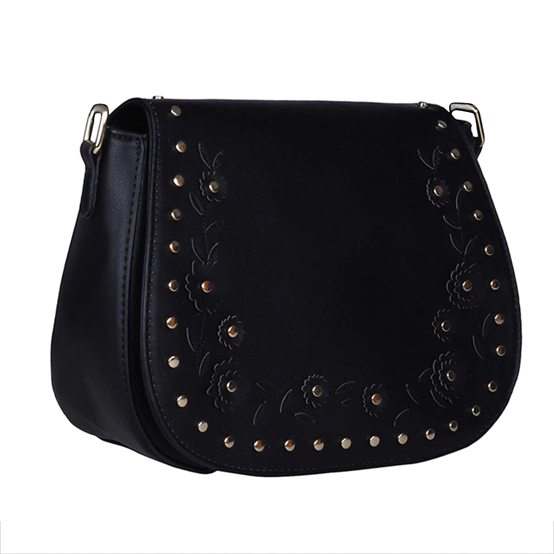 49bd8dd095fb BCBGMAXAZRIA Women s Sling Bag (Black)  Amazon.in  Shoes   Handbags