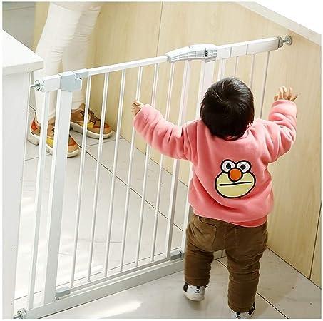 Barrera De Seguridad Con Bloqueo En Puerta Para Niños Extensión Verja De Cierre Automático Metal Valla De Seguridad Valla Para Mascotas Apto Para Escaleras (Color : White , Size : 166-173cm) : Amazon.es: Hogar