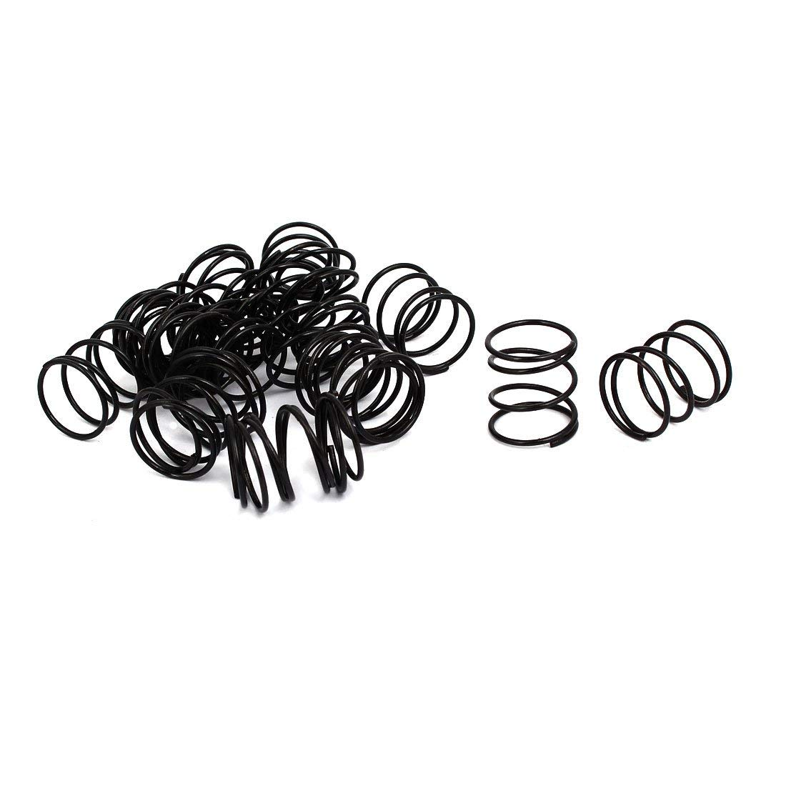 1.2mm Fil Dia 18mm Dia Ext 15mm Long Compression Ressort Noir 20pc