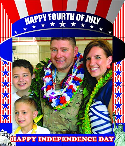 aahs!! Engraving Independence Day Themed Birthday Party Photo Frame Prop, 35 X 30 inches