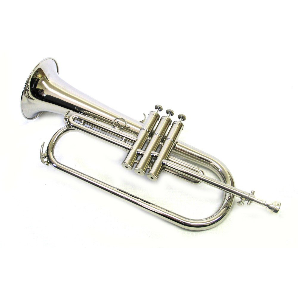 E.F. Durand Bb Nickel Flugelhorn with Case and Mouthpiece