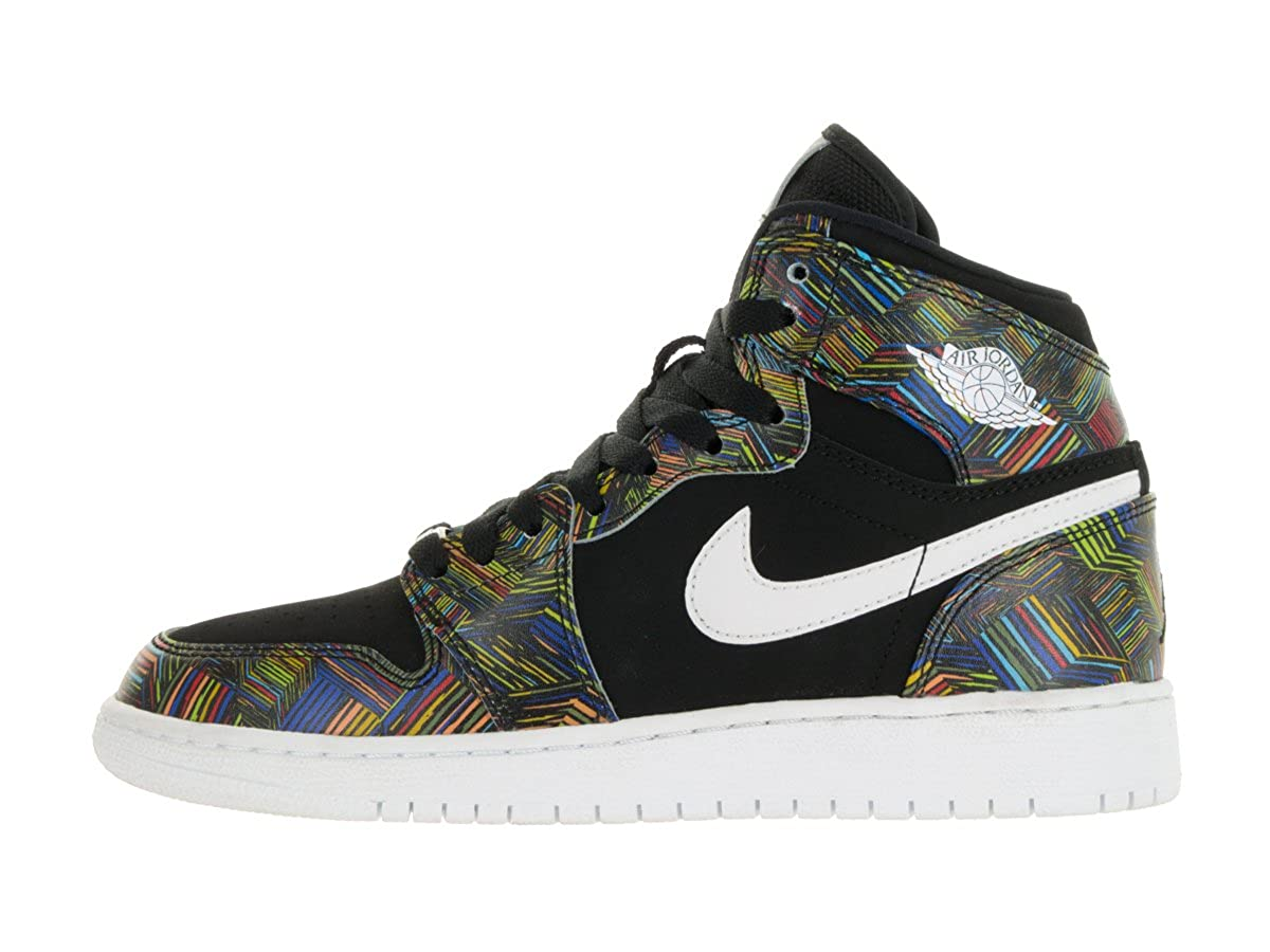 new concept a2885 88be5 Amazon.com   Jordan Air 1 Retro High BHM GG Youth Synthetic Multi Color  Sneakers   Sneakers