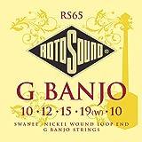 Rotosound RS65 - Juego de cuerdas para banjo de níquel en Sol (extremo de lazo