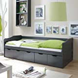 pharao24 massivholzbett mit bettkasten g stebett k che haushalt. Black Bedroom Furniture Sets. Home Design Ideas