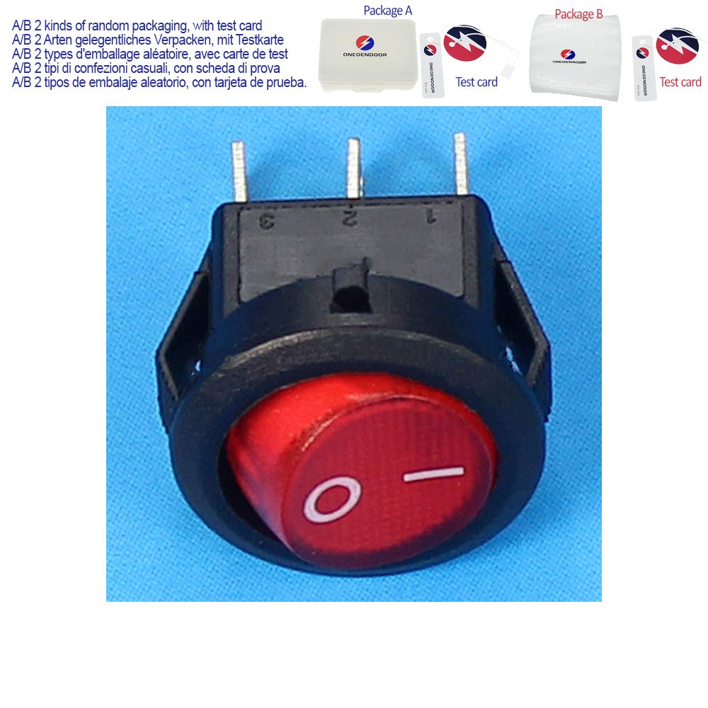 Amazon.com: Mini Round Shape 3 Pins Rocker Switch ON/Off ...