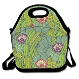 Cactus Mammillaria Peyote Opuntia Insulated Lunch Bag Picnic Lunch Tote For Work, Picnic, Travelling