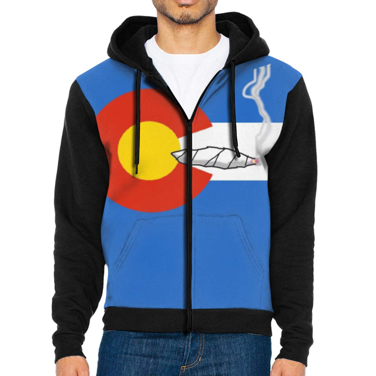 G-Fulling Fun Colorado Flag Smoking 3D Print Fashion Men's Hooded Sweatshirts Drawstring Pullover Hoodies Pockets
