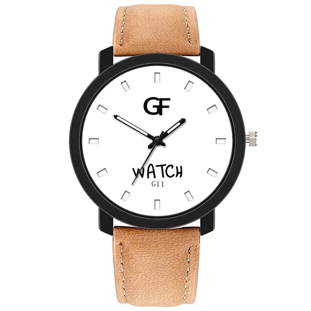 Reloj para Hombre en Oferta,Reloj de Cuero para Mujer Caliente Lo ...