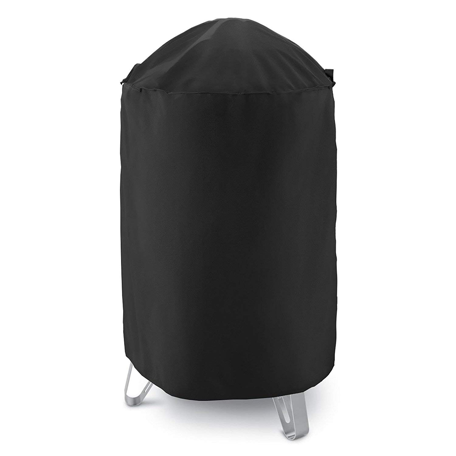 """AKEfit Dome Smoker Cover, 30"""" Dia x 36"""" H,Heavy Duty Waterproof Barrel Cover, Vertical Water Smoker Cover, Round Kettle Grill Covers, All Weather Protection for Weber, Char-Broil and More"""
