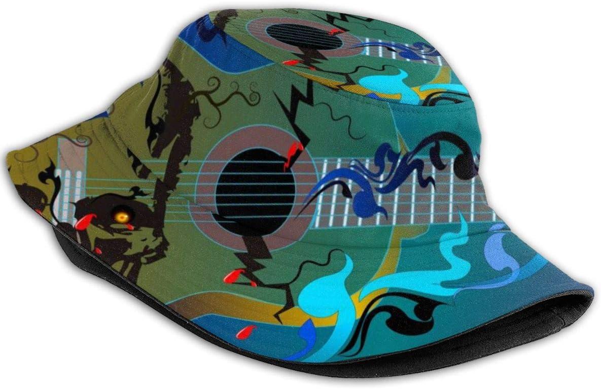 Gorra de verano e invierno para caza y pesca al aire libre cubierta de barril neutro Dnwha la voz de la guitarra de calavera