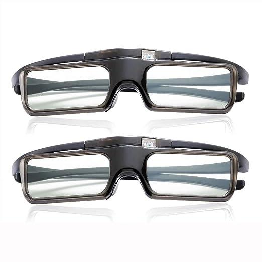 UKE Gafas 3D DLP, Gafas 3D con Obturador Activo DLP-Link ...