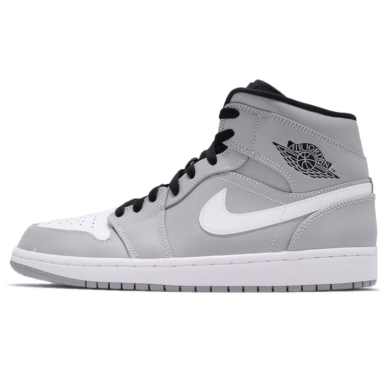 (ジョーダン) エアジョーダン 1 ミッド メンズ バスケットボール シューズ Air Jordan 1 Mid 554724-046 [並行輸入品] B07BKTNJWH 28.0 cm WOLF GREY/WHITE-BLACK