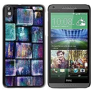 Paccase / SLIM PC / Aliminium Casa Carcasa Funda Case Cover para - Pastel Teal Pink Pattern - HTC DESIRE 816