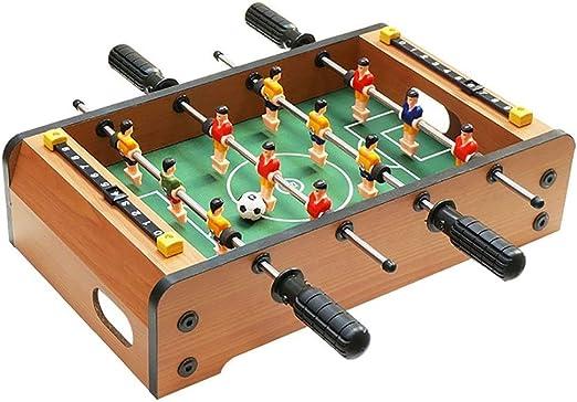 Futbolines Junta Juego Educativo Hockey de Mesa de Escritorio Partido de fútbol Tabla Doble Padres e Hijos Juguete Interactivo niños (Color : Wood Color, Size : 51 * 30.5 * 10cm): Amazon.es: Hogar