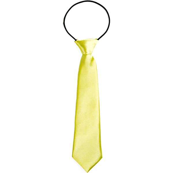 junkai Estudiantes Satin Zipper Neck Tie Corbata de Color sólido ...
