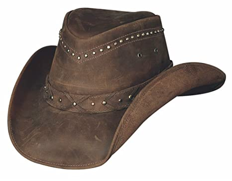 """a301f6b2 Small """"Burnt Dust"""" Leather Outback Hat from the Down Under  Collection"""