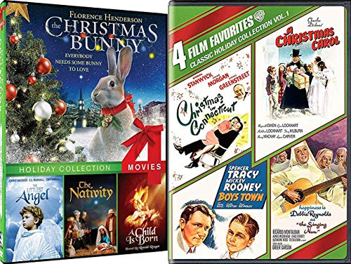 Some Bunny to Love Holiday Favorites Christmas Connecticut Charles Dickens Carol Singing Nun 8 Pack / Boys Town / Hapiness is Debbie Reynolds / Littlest Angel / Nativity / Child Born Special Edition