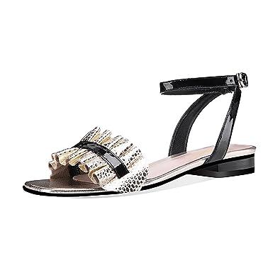 1d9b8f938d8fad Qimaoo Femme Été Sandales à Talon Carré, Chaussures à Haut Talon de 6cm pour  Mariage
