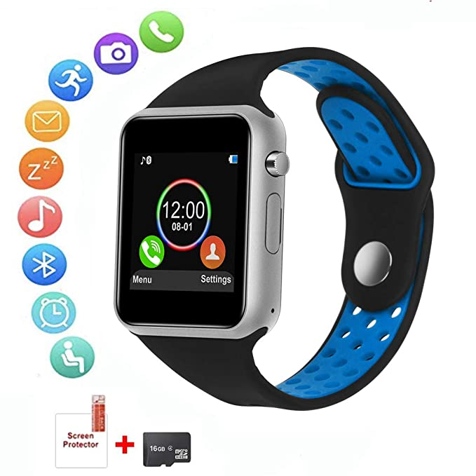 HongTu - Reloj Inteligente para Android, Resistente al Agua, con ...