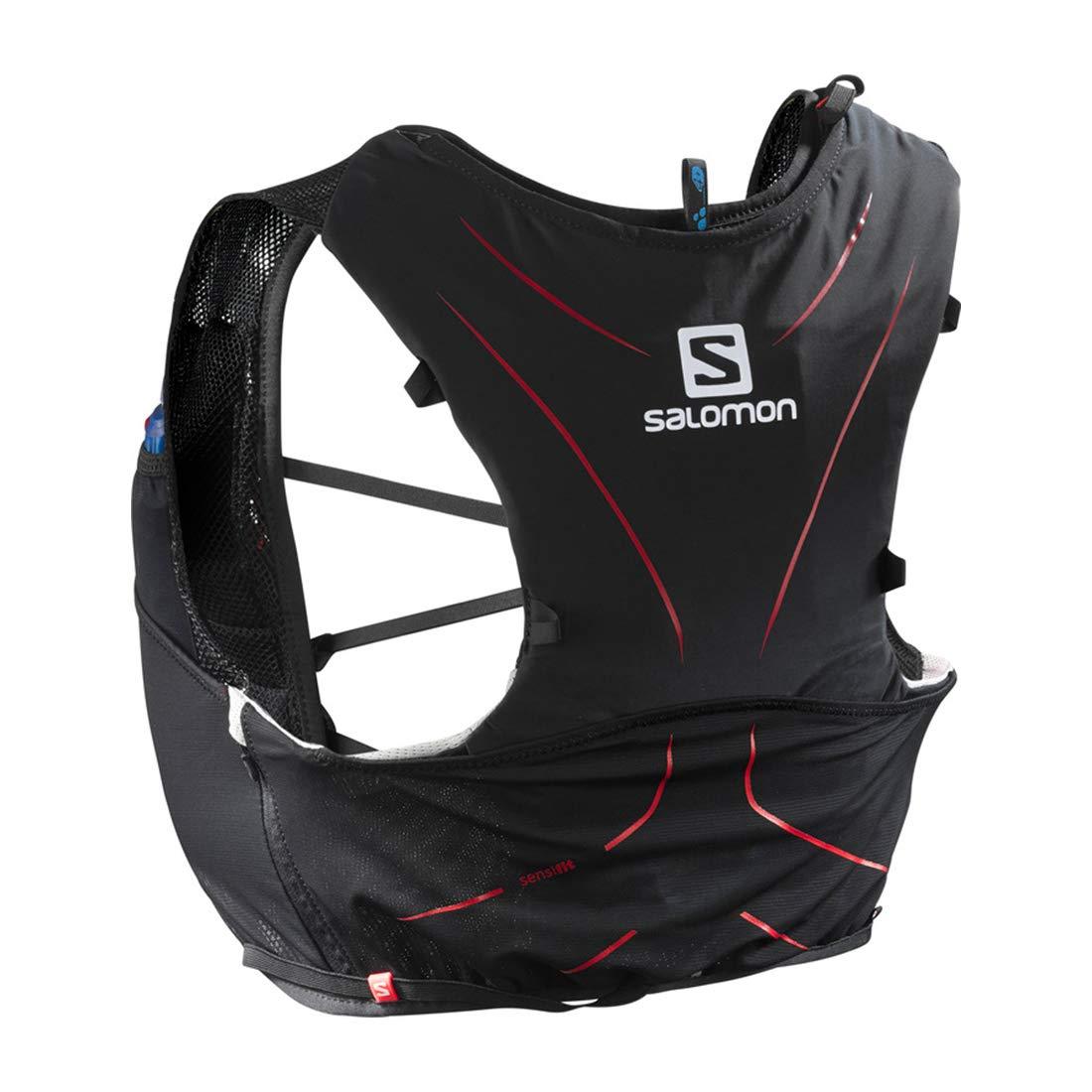 Salomon ADV Skin 5 Set Mochila Ligera de hidratación para Corriendo/Senderismo, Capacidad 5 L, Unisex Adulto, Negro/Rojo, XL: Amazon.es: Deportes y aire ...