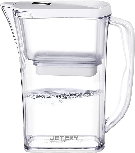 Jetery Jarra de agua con filtración rápida de larga duración con ...