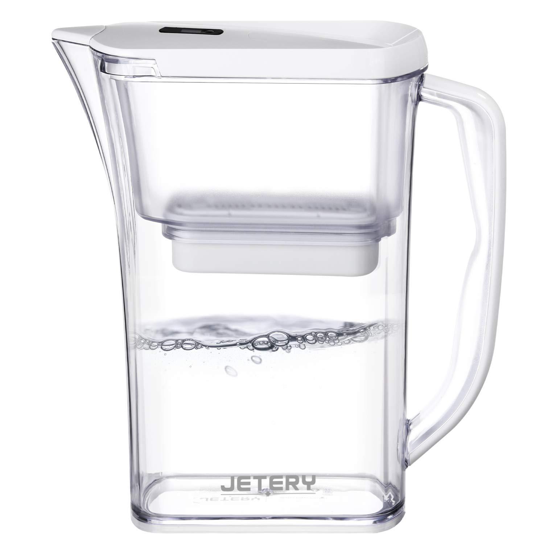Jetery Caraffa d'Acqua filtrata, capacità di 2.8 L, Filtrazione Veloce e Duratura Assicurata dalla Tecnologia Militare ACF, Brocca d'Acqua purificante, JT-7220. capacità di 2.8 L Brocca d'Acqua purificante
