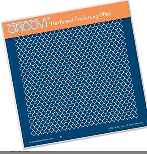 - Groovi Parchment Embossing Plate - Lace Netting A5 - Laser Etched Acrylic for Parchment Craft