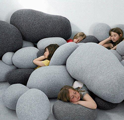 Vercart (TM) - Plüsch Kissen auf dem Boden Stein kissen Kinderspielzeug 10