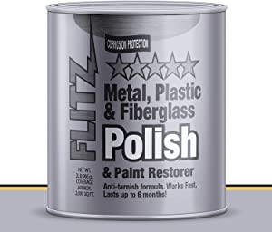 Flitz CA 03518-3A-3PK Multi-Purpose Polish and Cleaner Paste for Metal, Plastic, Fiberglass, Aluminum, Jewelry, Sterling Silver: Great for Headlight Restoration + Rust Remover, Made in the USA, 3 Pack, 2lb Quart Can