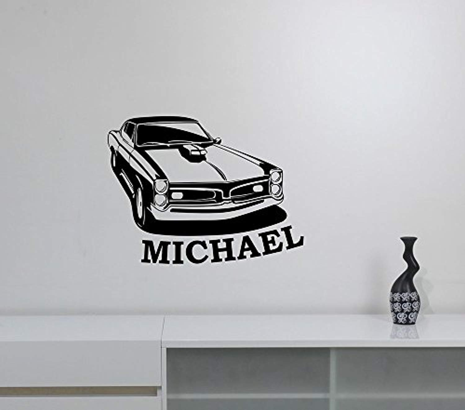 A good decals usa custom name muscle car wall decal retro vintage auto vehicle personalized vinyl sticker roadster hotrod race art decorations for home boys