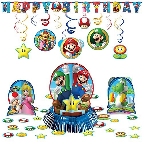 Super Mario Bros Hanging Childrens Birthday Party Pack