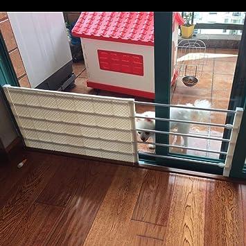barrera seguridad Extra ancha Puerta para niños Puerta para mascotas para perros Gatos Barrera para bebés por puertas Escalera Pasillo 53-130 cm Ancho ...