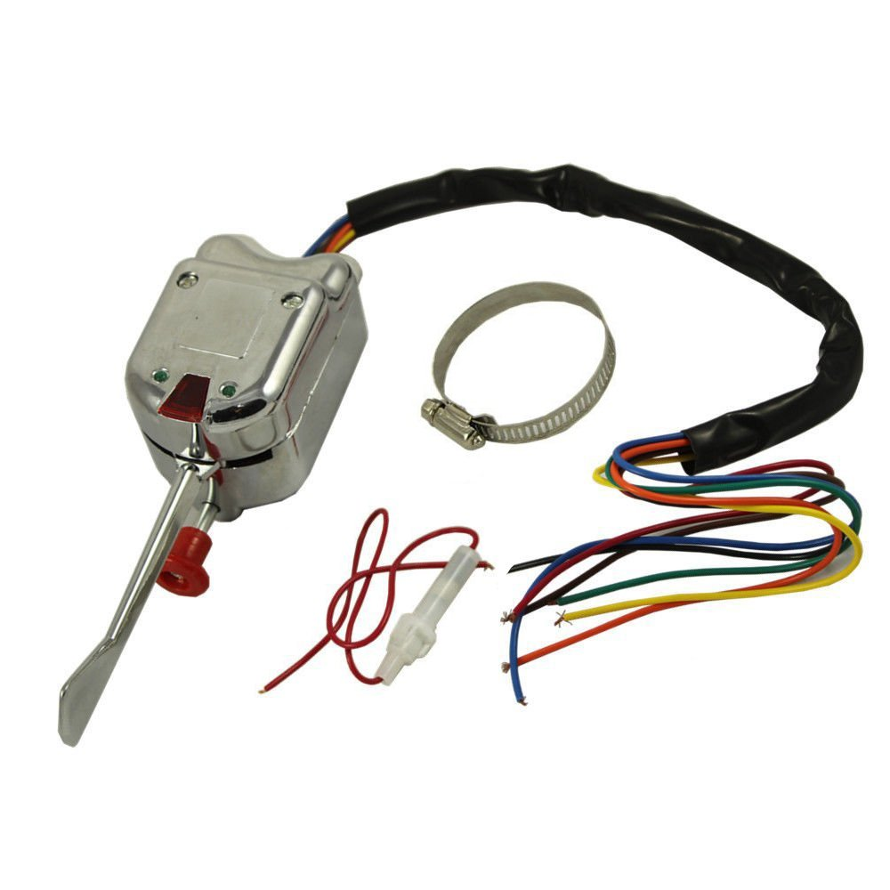 12v Universal Chrome Street Hot Rod Turn Signal Switch For Ford Gm Wiring Diagram Vintage Buick Arj