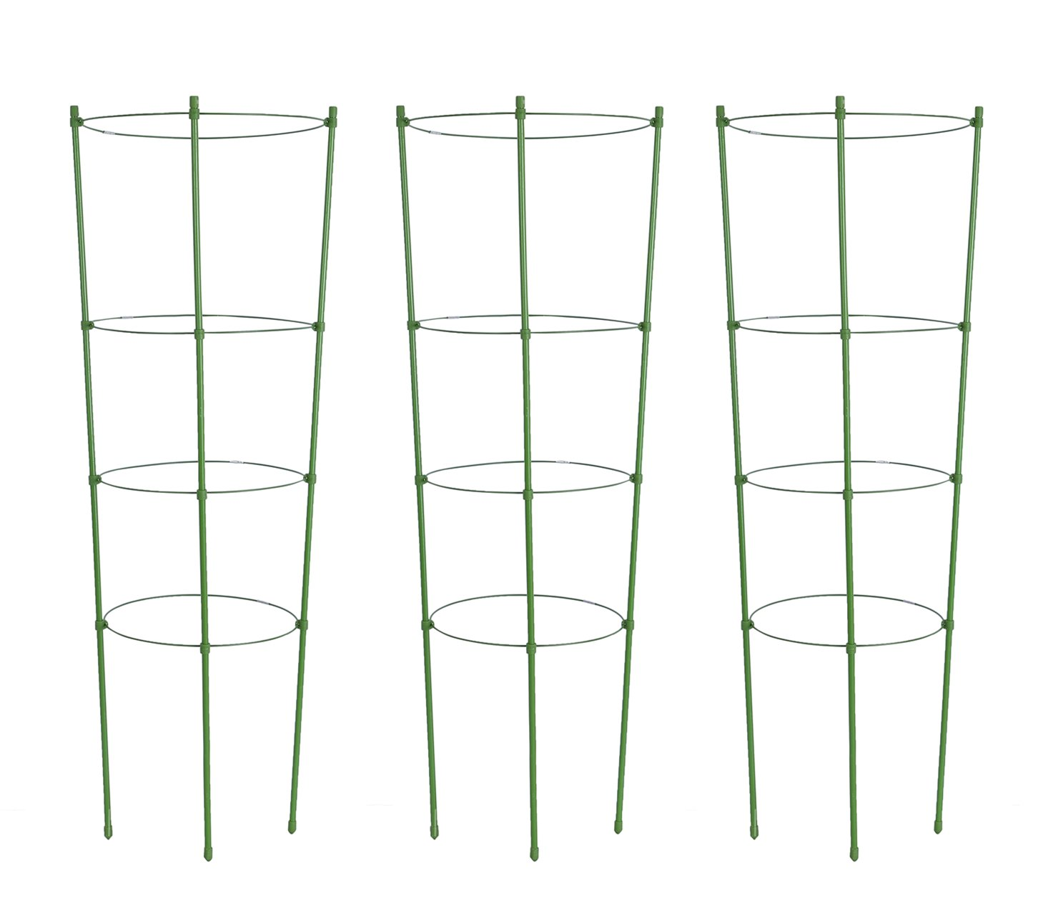 Tingyuan Plant Support Cages 36 Inches Plant Cages with 4 Adjustable Rings, Pack of 3