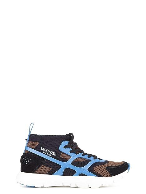 Valentino Garavani Hombre PY2S0A57GHB19C Azul Claro/Negro Tela Zapatos: Amazon.es: Zapatos y complementos