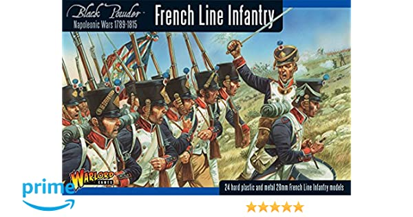 Black Powder Napoleonic French Line Infantry 1789-1815 1:56 Military  Wargaming Plastic Model Kit