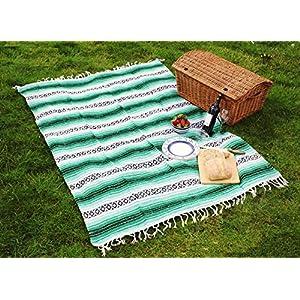 El Molcajete Brand Traditional Mexican Yoga Blanket Serape Burgundy