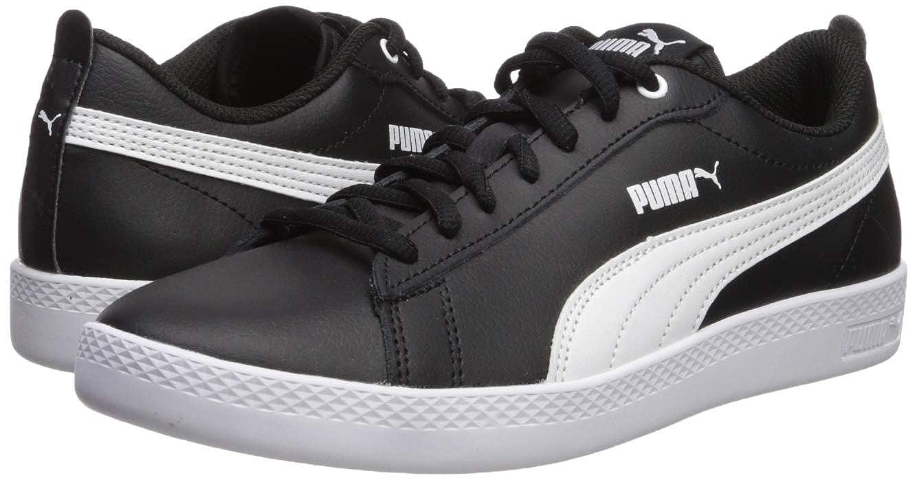 PUMA PUMA Women's Smash WNS v2 Leather Sneaker, Black Black, 10.5 M US from Amazon   ShapeShop