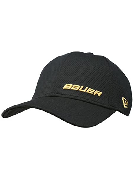 Bauer New Era 39THIRTY Supreme Hockey Cap Hat Black Yellow Logos 1043446 (S  M)  Amazon.ca  Clothing   Accessories 650ad57edeee