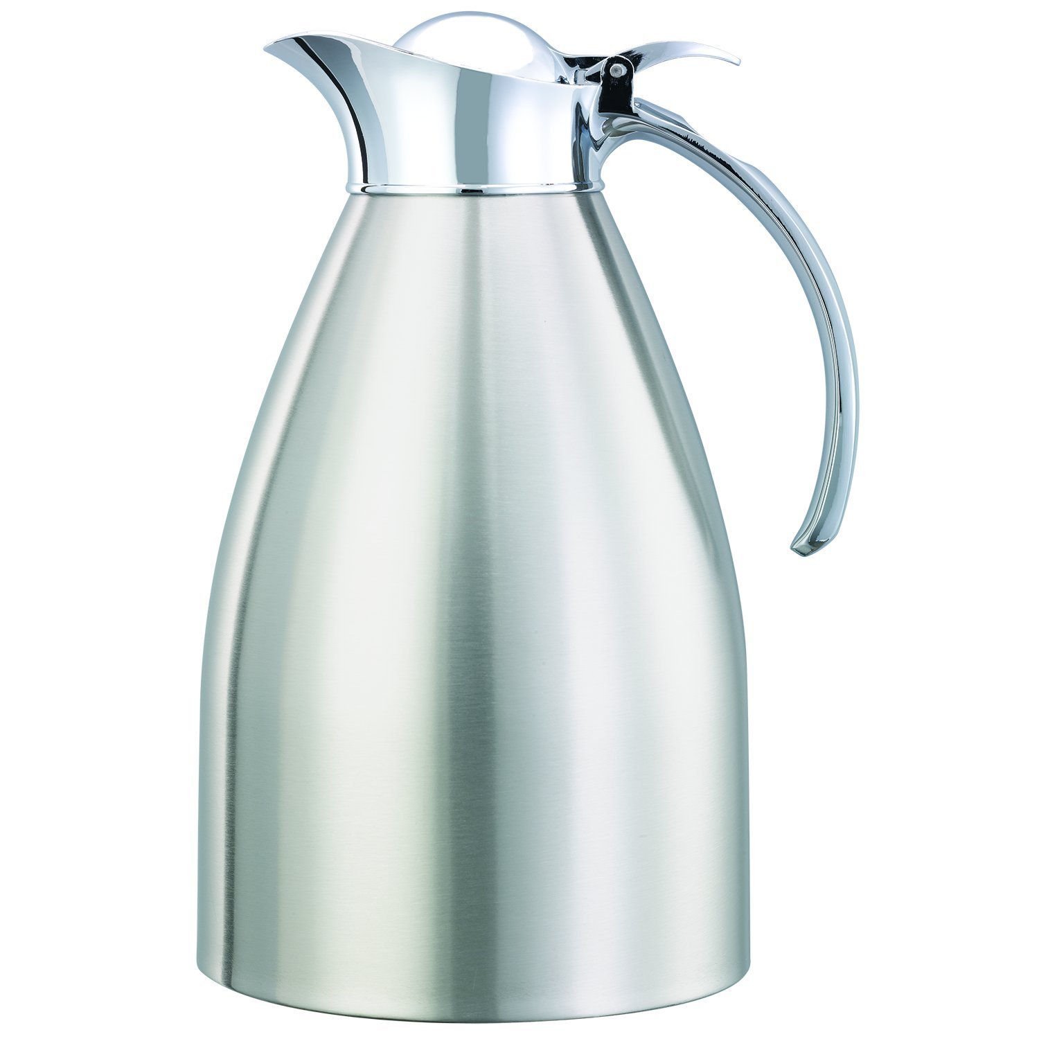 Service Ideas 98215BS Carafe, Stainless Steel Lined, Brushed Exterior, 1.5 L