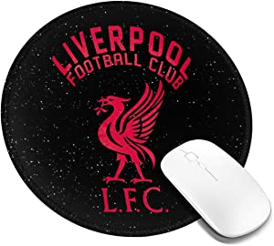 Van Gogh Starry Night Liverpool Fc You'll Never Walk Alone Round Mouse Pad 7.9x7.9 in£¨1/2/4 Pcs£with Non-Slip Rubber Base and Stitched Edges